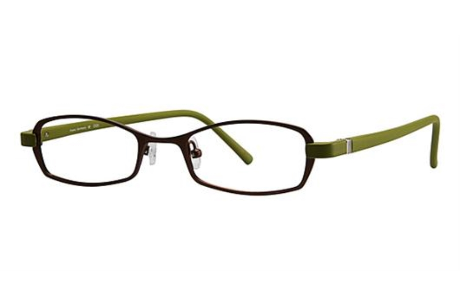 OGI Eyewear 2220 Eyeglasses in 956 - Dark Brown/Lime