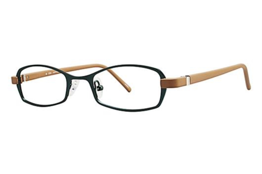 OGI Eyewear 2220 Eyeglasses in 957 - Dark Aqua/Tan