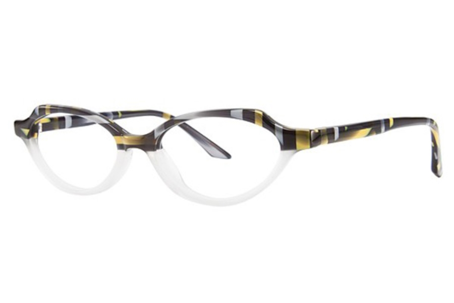 OGI Eyewear 7157 Eyeglasses in 1901 Blue Yellow Grey Weave/Ice