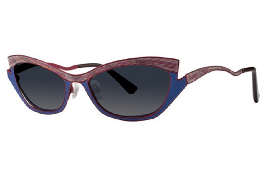 OGI Eyewear 8069 Sunglasses in 1782 TWILIGHT STREAMER/BURGUNDY
