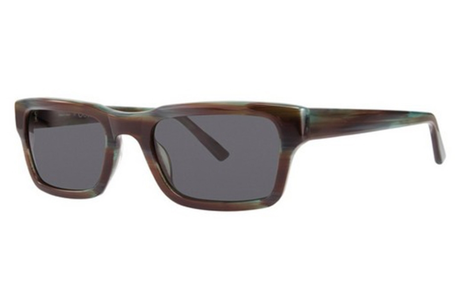 OGI Eyewear 8073 Sunglasses in 1876 Aqua Brown Horn
