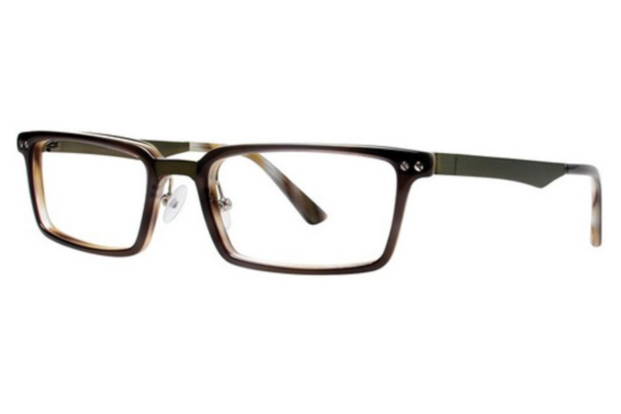 OGI Eyewear 9102 Eyeglasses in 1638 DARK GREY/LIGHT HORN/OLIVE
