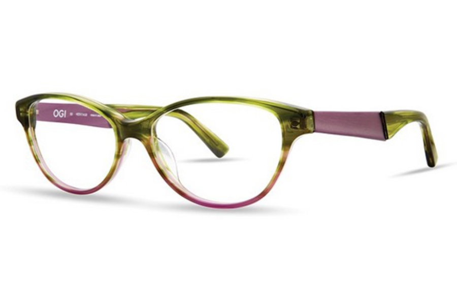 OGI Eyewear 9116 Eyeglasses in 2132 Bottle Green Fade/Orchid