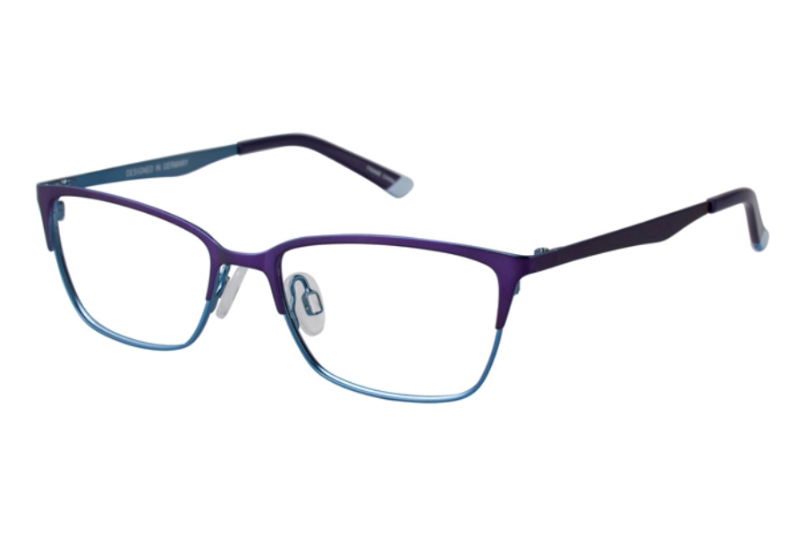 O!O OT21 Eyeglasses in 57 Purple/Blue