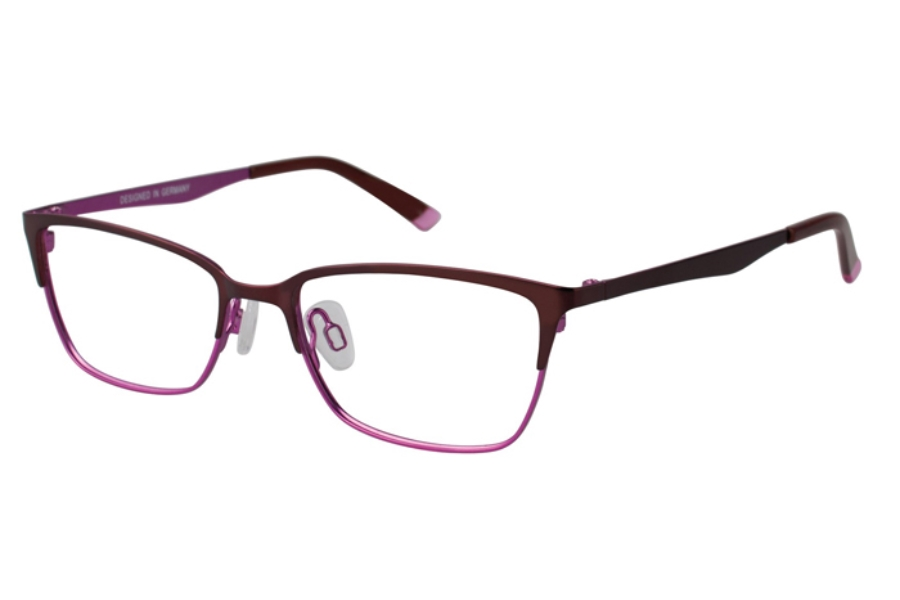 O!O OT21 Eyeglasses in 75 Teal/Violet