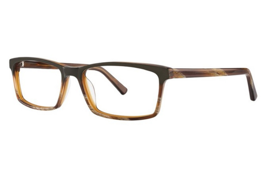 OGI Eyewear 3131 Eyeglasses in 1826 Green/Light Brown Horn Fade/Light Brown Horn
