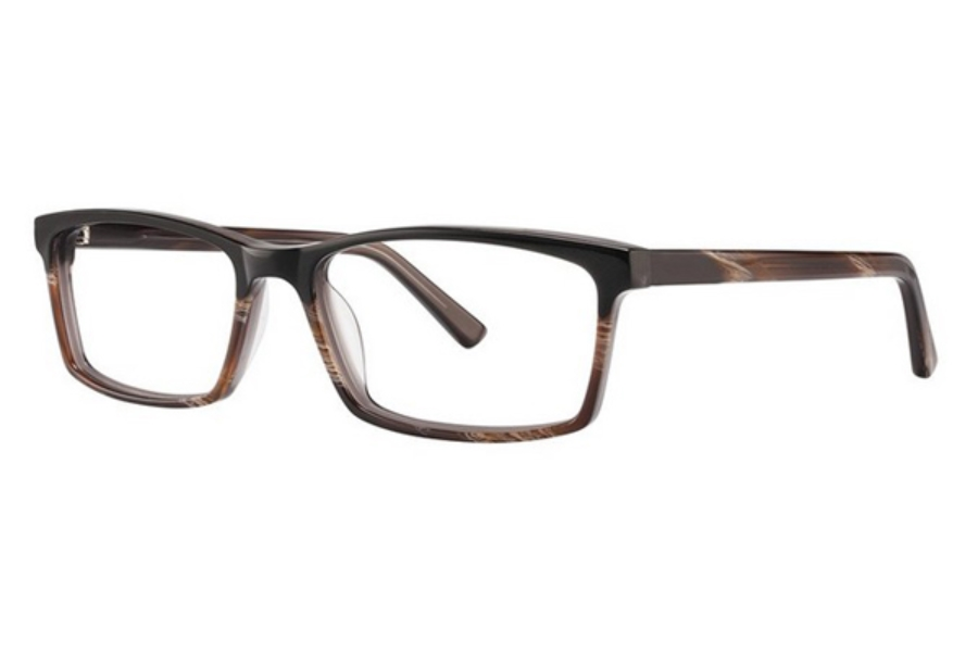 OGI Eyewear 3131 Eyeglasses in 1828 Black/Dark Brown Horn Fade/Dark Brown Horn