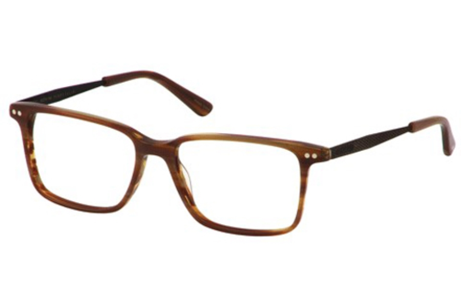 Perry Ellis PE 379 Eyeglasses in Tan Horn
