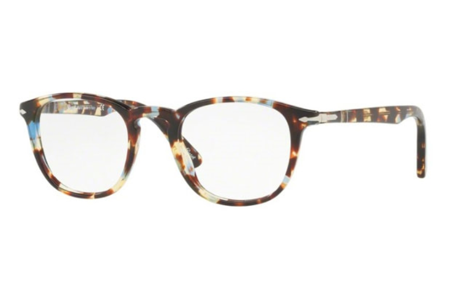 625857a9ae Persol PO 3143V Eyeglasses in 1058 Havana Azure Brown ...