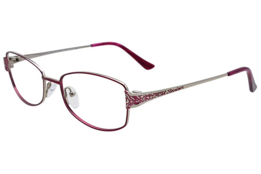 Pentax PX906 w/Magnetic Clip On Eyeglasses in 35 Dark Pinkish Red and Silver