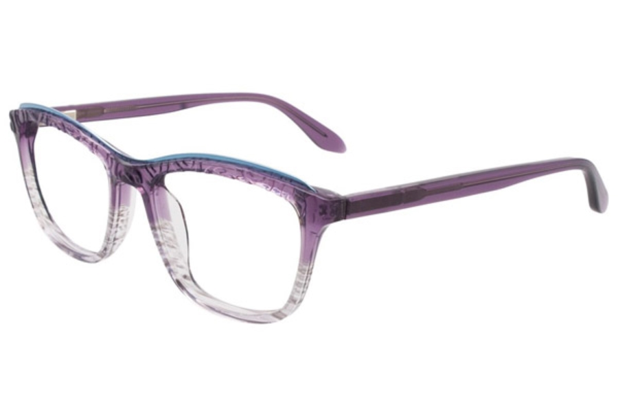 Paradox P5002 Eyeglasses in 80 Gradient Plum And Light Blue