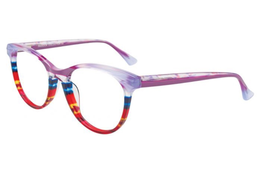 Paradox P5057 Eyeglasses in 080 - Mauve & Crystal & Multicolor Stripes