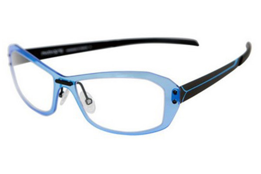 Parasite Onde 1 Eyeglasses in C72 Black Sky Blue