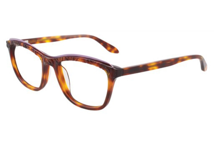 Paradox P5002 Eyeglasses in 10 Demi-Amber And Silver Pink