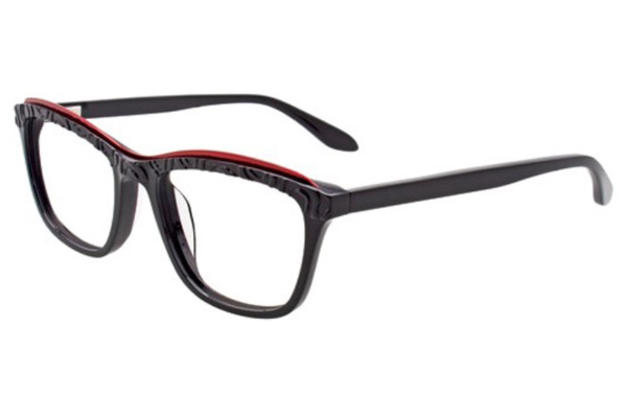 Paradox P5002 Eyeglasses in 90 Black And Red