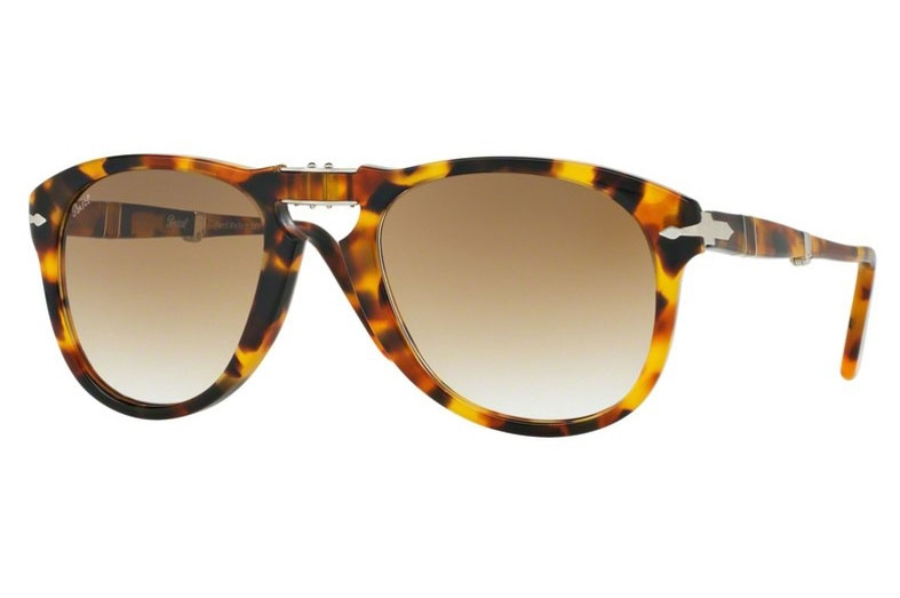 8a025bbbf4a8 ... Persol PO 0714 Folding Sunglasses in 105251 Madreterra / Clear Gradient  (Discontinued) ...