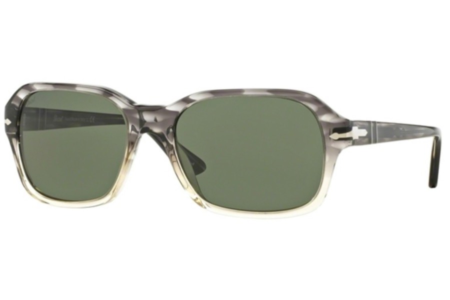 bee00faa1b Trasp   Brown  Persol PO 3136S Sunglasses in 103931 Striped Grey Grad Trasp    Green ...