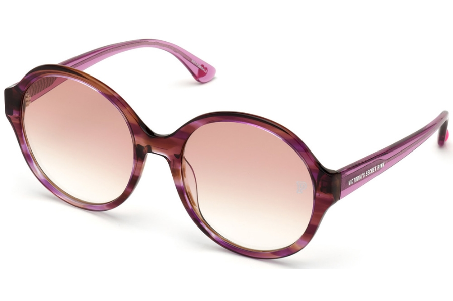 Victoria's Secret Pink PK0019 Sunglasses in 72Z - Crystal Red Horn, Pink Gradient Lens