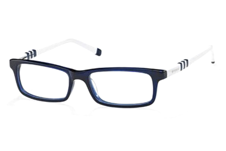 Polaroid Pld K 004 Eyeglasses in 089F Blue White Blue