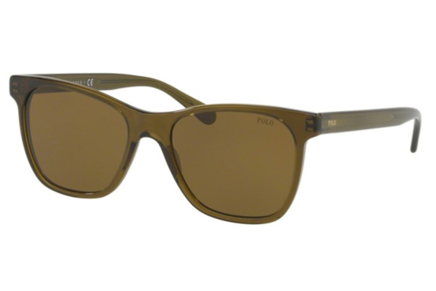 Polo PH 4128 Sunglasses in 556173 Transparent Olive / Brown