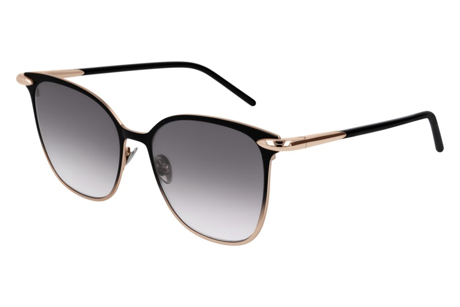 Pomellato PM0052S Sunglasses in 001 Black Gold/Grey Gradient