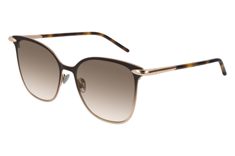 Pomellato PM0052S Sunglasses in 002 Brown Gold/Brown Gradient