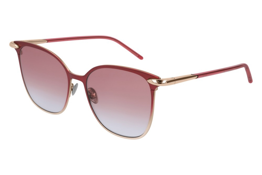 Pomellato PM0052S Sunglasses in 004 Red Gold/Orange Gradient