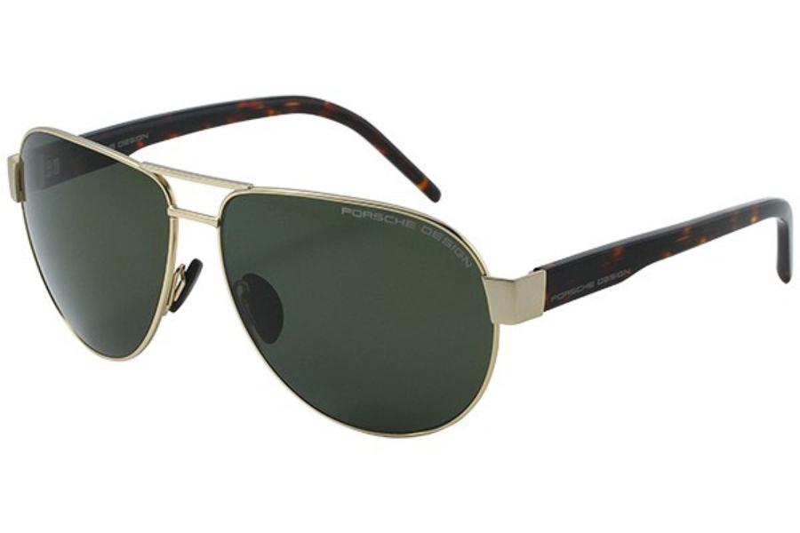 76bf88503ba Porsche Design P 8632 Sunglasses in B Light Gold Polarized Gray Green ...