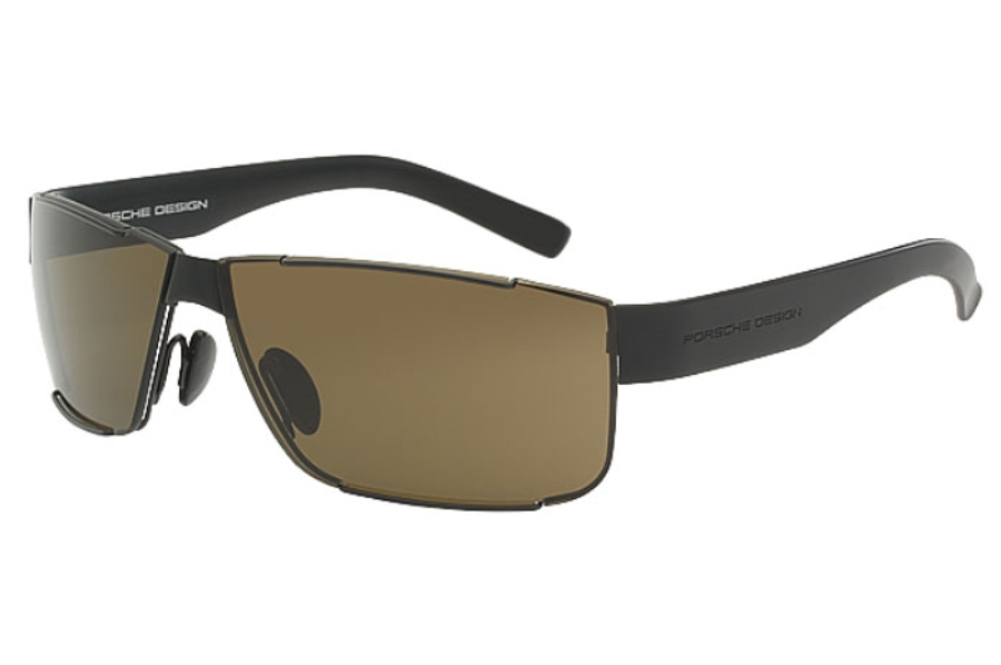 Porsche Design P 8509 Sunglasses in A Matte Black/Black
