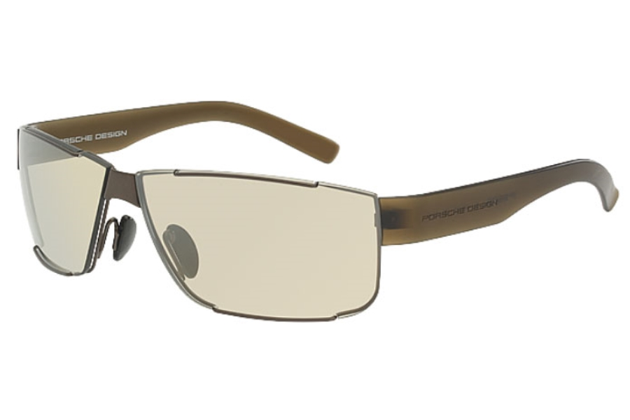 Porsche Design P 8509 Sunglasses in D Matte Brown Gray/Olive