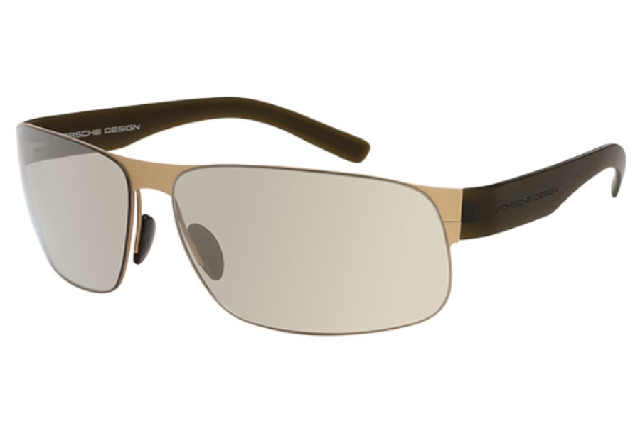 faed71d9b2da ... Porsche Design P 8531 Sunglasses in B) Matte Light Gold Matte Olive ...