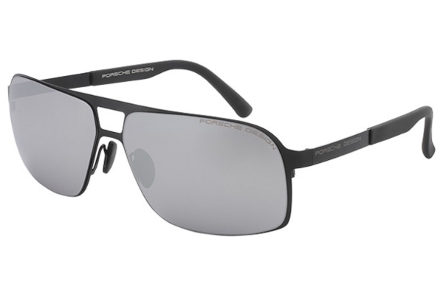 1027e950b06 ... Porsche Design P 8579 Sunglasses in B Black   Mercury Silver Mirror ...