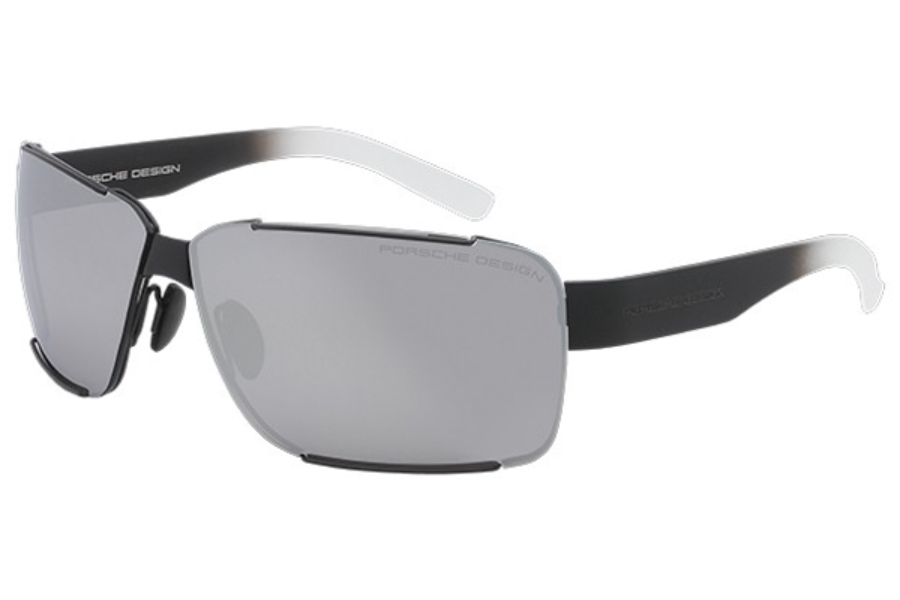 Porsche Design P 8580 Sunglasses in A Black / Gray / Mercury Silver Mirror