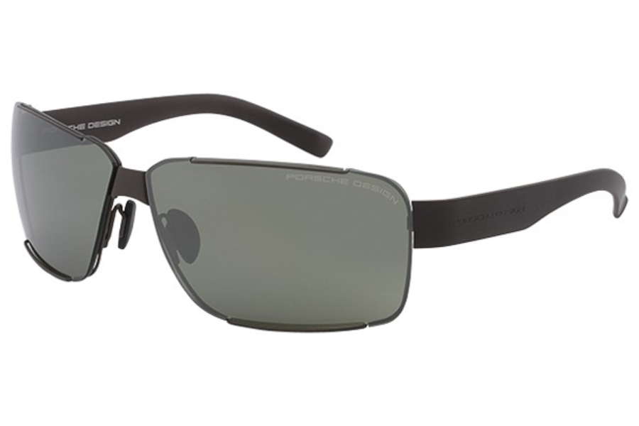 Porsche Design P 8580 Sunglasses in C Brown / Gray / Light Olive with Silver Mirror