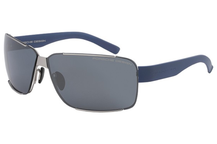 Porsche Design P 8580 Sunglasses in B Silver / Blue Black Mirror / Mercury Silver Mirror