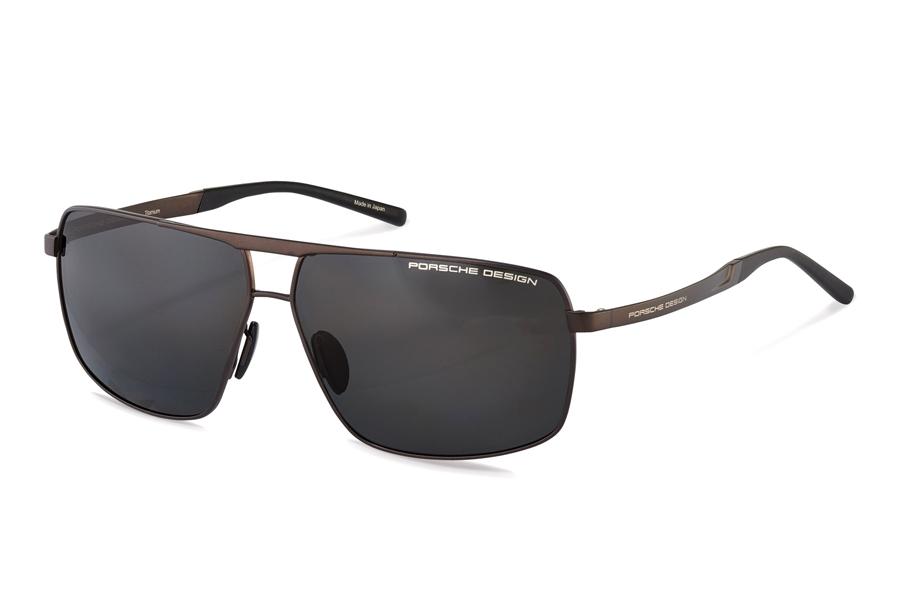 fe68a6f436 Porsche Design P 8658 Sunglasses in D Brown W Grey Polarized ...