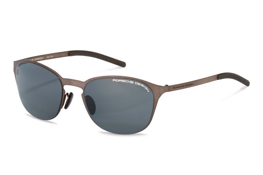Porsche Design P 8666 Sunglasses in B Brown w/Grey Blue
