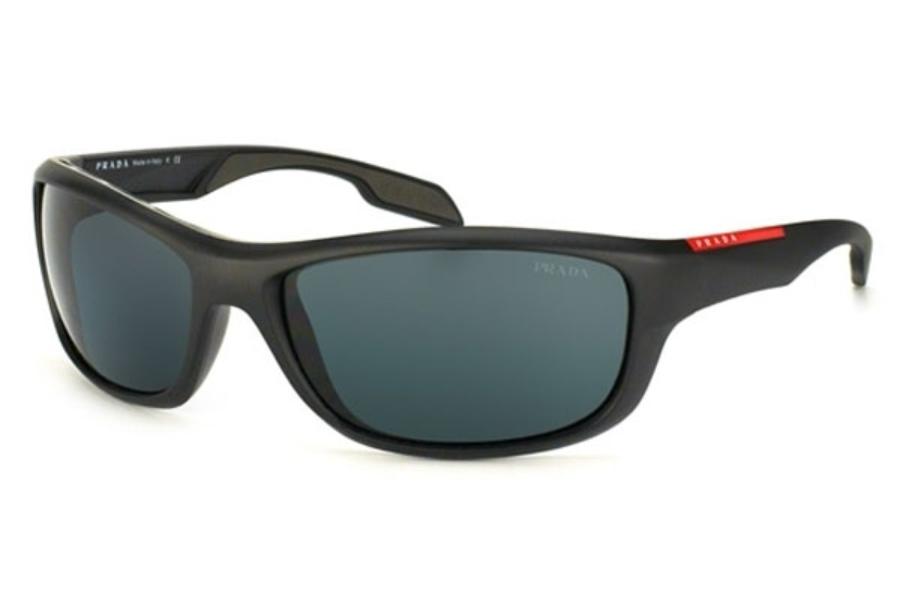 87e966ecbe26 ... Prada Sport PS 04NS Sunglasses in 1BO1A1 Matte Black+Black Rubb. Gray  ...