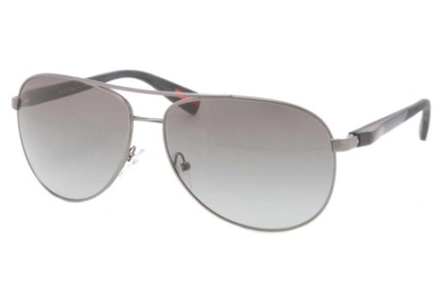 38ffdb87f7 ... Grey Blue Gradient  Prada Sport PS 51OS Sunglasses in 7CQ3M1 Gunmetal  Demi Shiny gray gradient ...