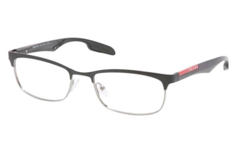 Prada Sport PS 54DV Eyeglasses in GAQ1O1 Silver/Black