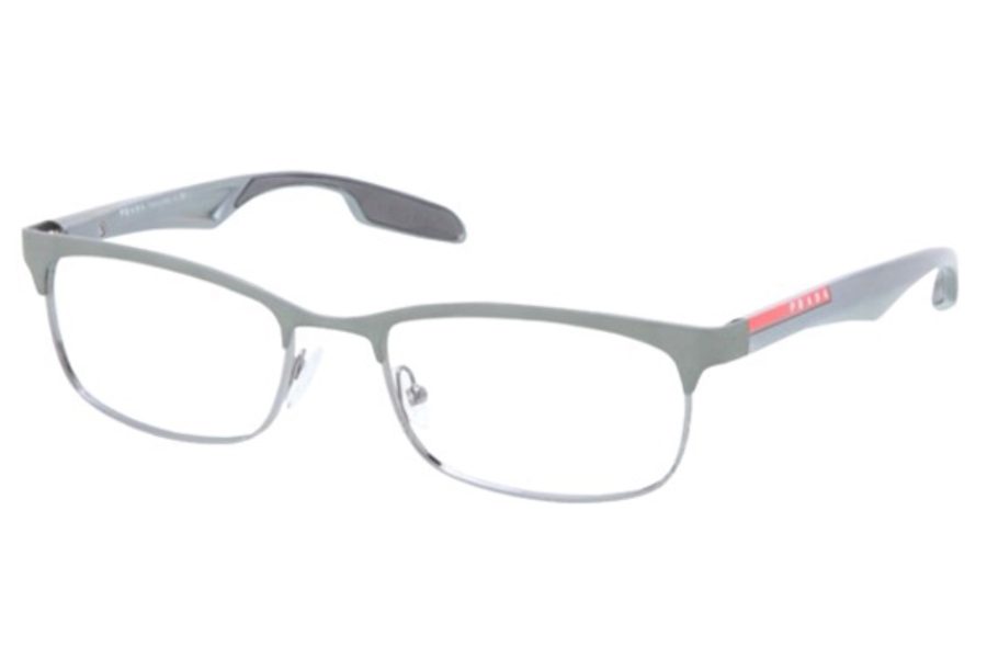 Prada Sport PS 54DV Eyeglasses in SML1O1 Gunmetal/Metallized Gray