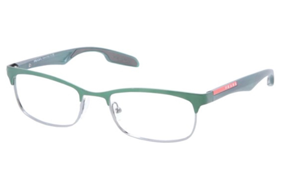 Prada Sport PS 54DV Eyeglasses in SMM1O1 Gunmetal/Metallized Green