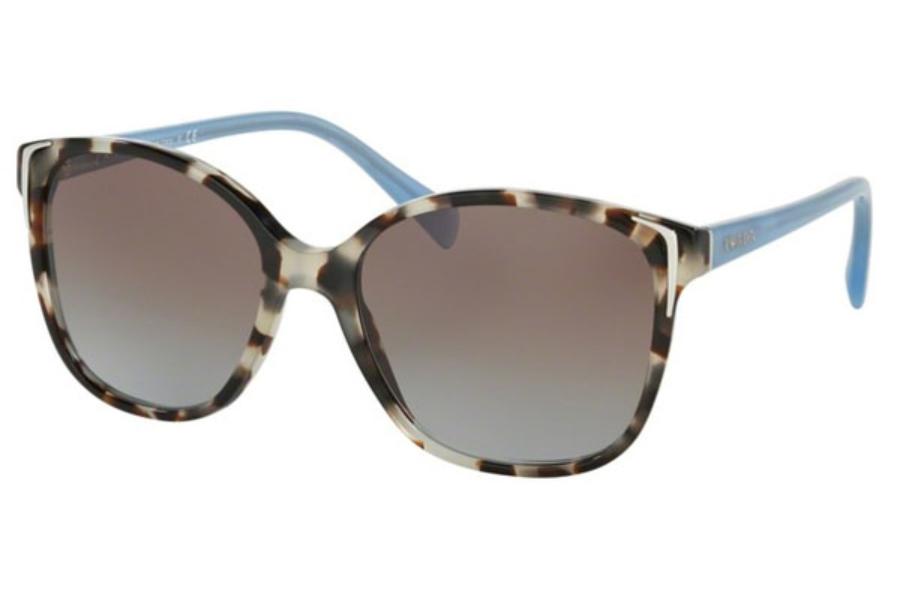e5b1e42c55821 ... Havana Grey Gradient  Prada PR 01OS Sunglasses in UAO4S2 Spotted Opal  Brown   Blue Gradient ...