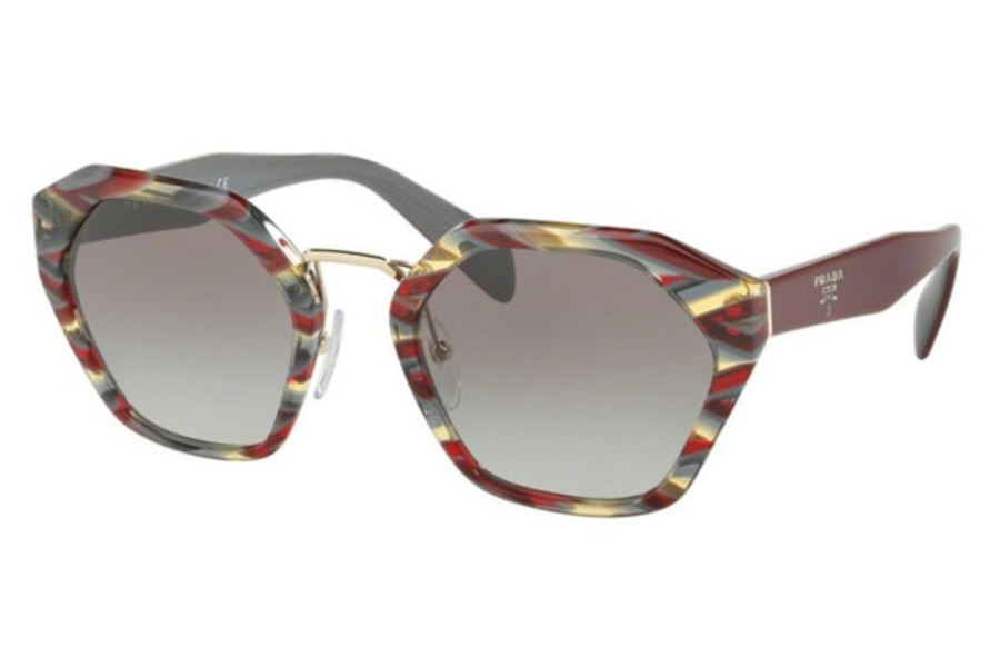 19573fb3c3b ... Prada PR 04TS Sunglasses in VAP0A7 Sheaves Bordeaux Green   Grey  Gradient ...
