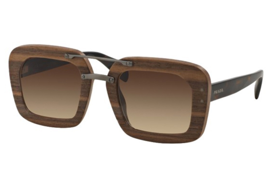 Prada PR 30RS Sunglasses in IAM6S1 Nut Canaletto Brown Gradient