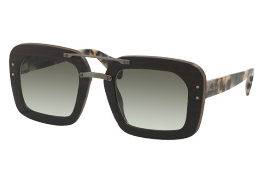 Prada PR 30RS Sunglasses in UBT0A7 Ebony Malabar Grey Gradient