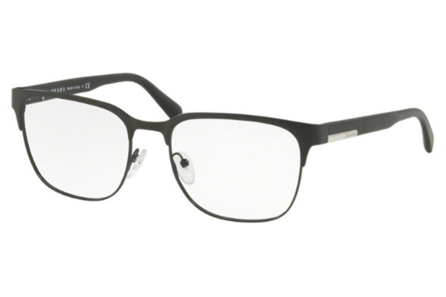Prada PR 57UV Eyeglasses in 1BO1O1 Matte Black