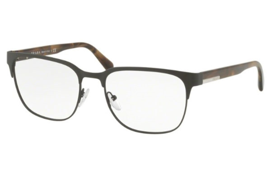Prada PR 57UV Eyeglasses in ROU1O1 Matte Brown