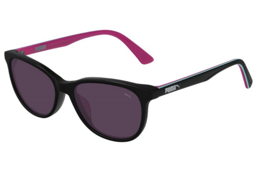 Puma PJ0022S Sunglasses in 012 Black / Violet