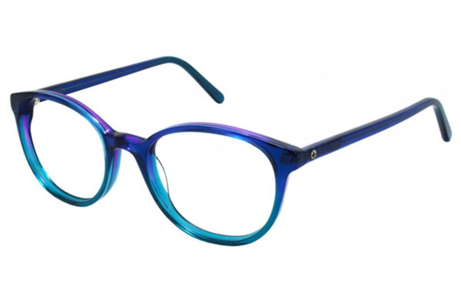 Pure Color Siren Eyeglasses in Blueberry